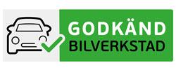 Godkänd Bilverkstad (logga) som Prodob samarbetar med